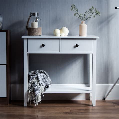 white wood  drawer console table wood furniture