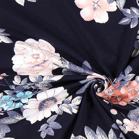 fiore cotone jersey di cotone fiore 2 tessuti in jersey tessuti