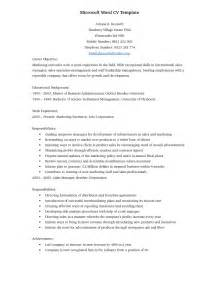 Resume Templates Word Doc by Cv Template Word Document Http Webdesign14