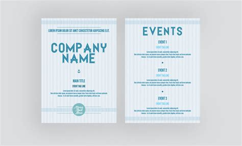 free leaflet and flyer template soft blue nautical theme