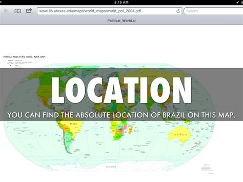 5 themes of geography on brazil 5 themes of geography emily perrault by dalton