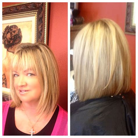 growing out reverse bob fine hair long bob with light layers slightly inverted great for