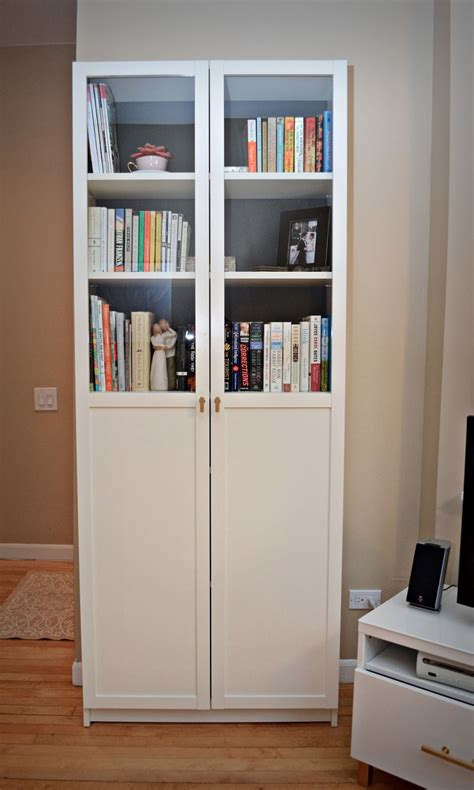 Book Cabinet With Doors Bookcases Doors Billy Bookcases From Ikea With Height Extensions And Glass Doors