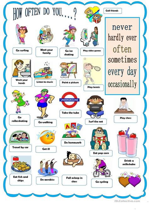 how often does a how often do you worksheet free esl printable worksheets made by teachers