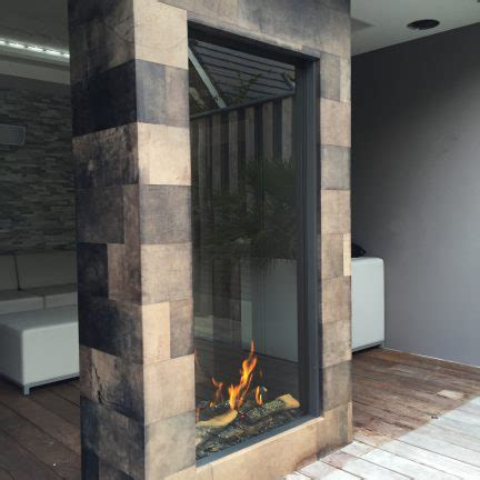 sky tunnel  element vertical   gas fireplace