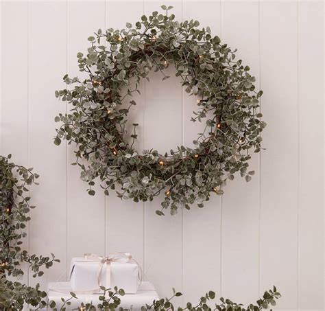 light up wreaths light up eucalyptus door wreath by the