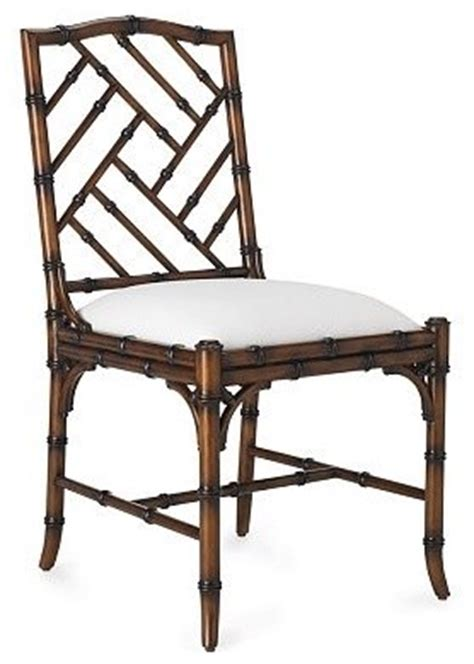 Bamboo Style Dining Chairs Brighton Bamboo Side Chair Traditional Dining Chairs By Williams Sonoma Home
