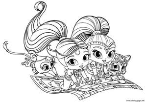 shimmer and shine coloring pages printable shimmer and shine pets coloring pages printable