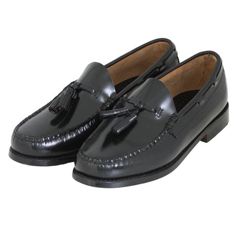 bass shoes bass weejuns shoes larkin tassel shoe in black