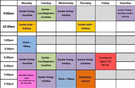 You And The Mat Schedule by Fitness June 2011