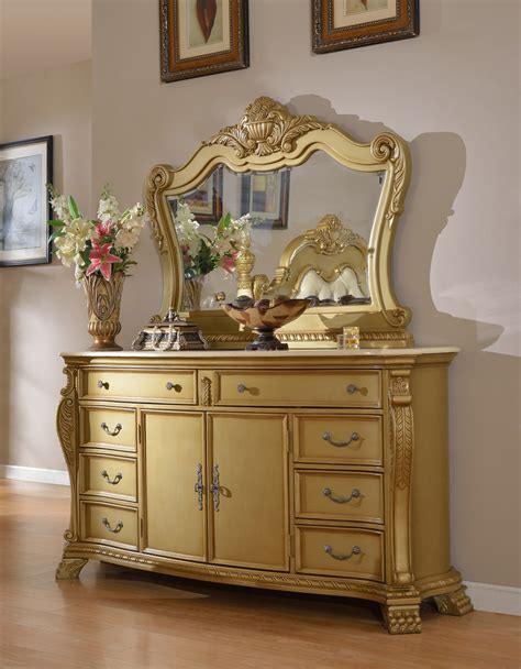 gold bedroom furniture lavish low post king 4 piece bedroom set in gold with
