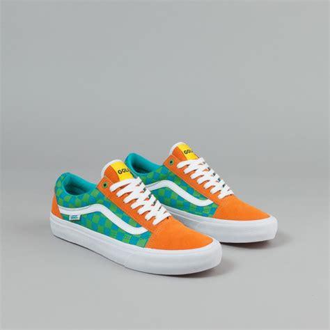 Baju Vans Golf Wang vans skool pro shoes golf wang orange blue green flatspot shoes