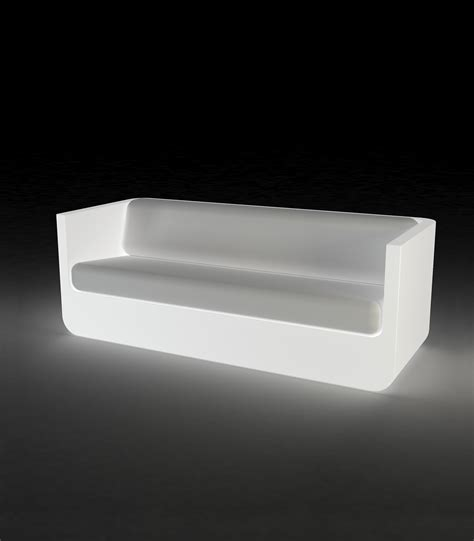 led sofa ulm outdoor polyethylene sofa with rgb led light by vondom