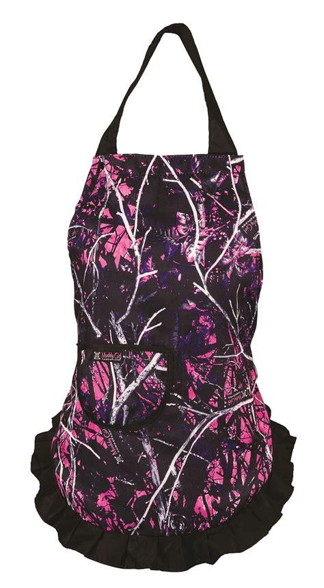purple muddy camo muddy camouflage hostess apron pink purple