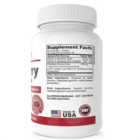 Suplemen Cranberry 3x cranberry extract supplement for bladder urinary