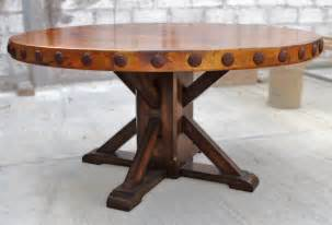 Copper Dining Room Tables featured rustic custom copper round dining table
