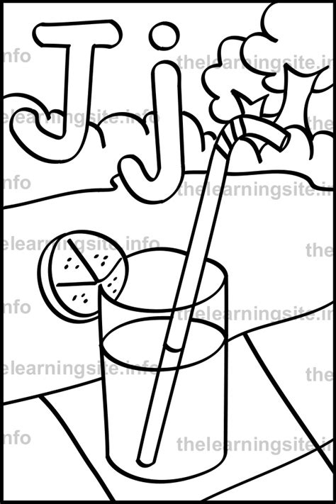 free coloring pages letter j free juice of lemon in the jar coloring pages
