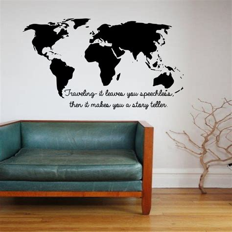 world map home decor cacar wall stickers traveling it leaves you speechless