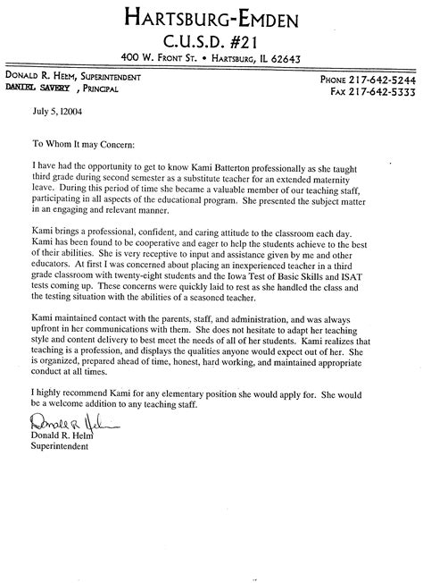 Recommendation Letter For Preschool From Parent How To Write A Recommendation Letter For College Admission