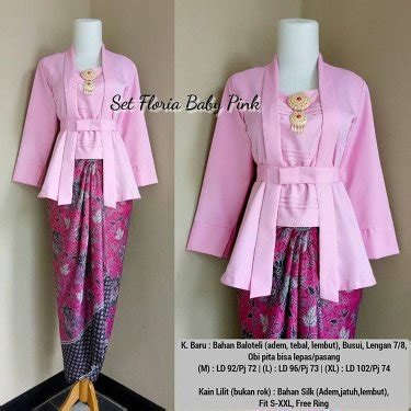 Baju Kebaya Modern Pink jual kebaya kutubaru kebaya modern baju formal baju pesta kebaya warna kuning hitam pink