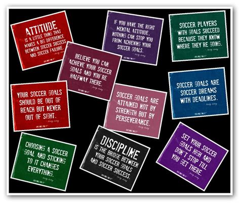 Motivational Soccer Posters with Soccer Quotes