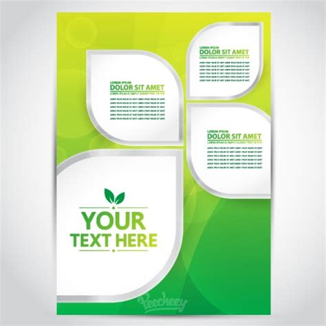 page layout design free download green yellow brochure free vector in adobe illustrator ai