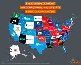 Companies Headquartered In The Largest Company Headquartered In Each U S State