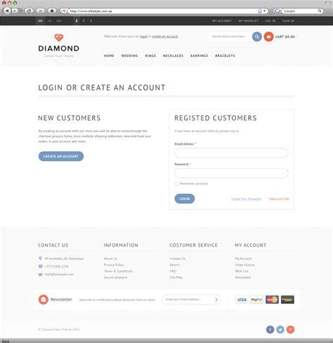 themeforest login page diamond html5 css3 store template by wpway themeforest