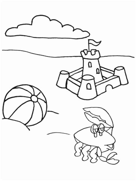 summer holiday coloring pages