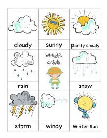 Kids Weather Report Template weather cards preschool printables