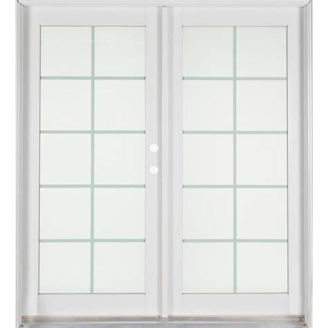 Patio Doors Home Depot Ashworth Professional Series 72 In X 80 In White Aluminum Wood Patio Door