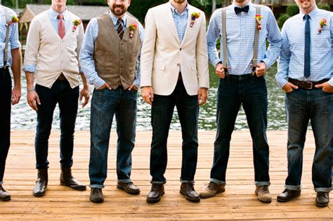 Casual Wedding Photos by Southern Wedding Casual Groomsmen