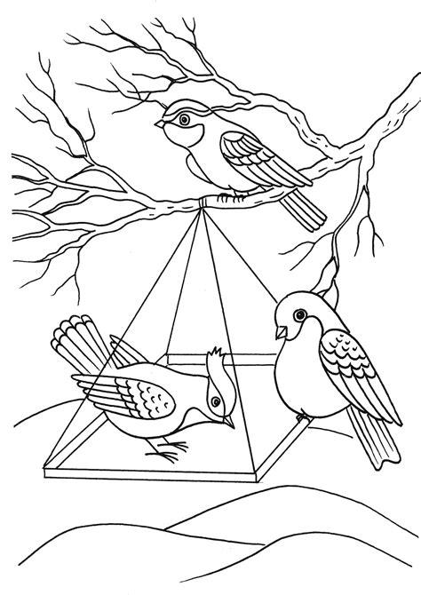 coloring page bird feeder coloring page birds in a feeder