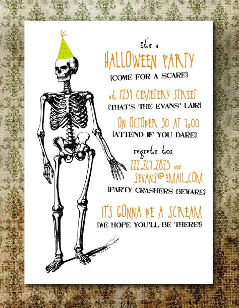 free printable halloween invitation templates free