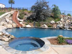 cool backyards with pools slides for backyard pools backyard design ideas