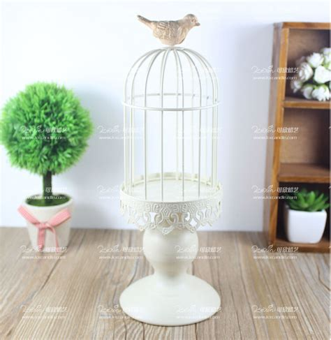 Decorative Bird Cage Candle Holder by Modern White Iron Candle Holder Decorative Bird Cage