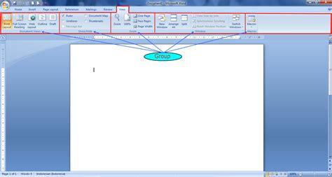 screen layout adalah fungsi tab view pada microsoft word 2007 panduan