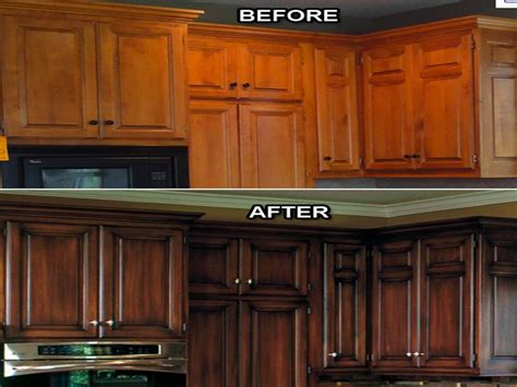 Refinishing Kitchen Cabinets Before And After Kitchen Cabinet Refacing Cost Your Home