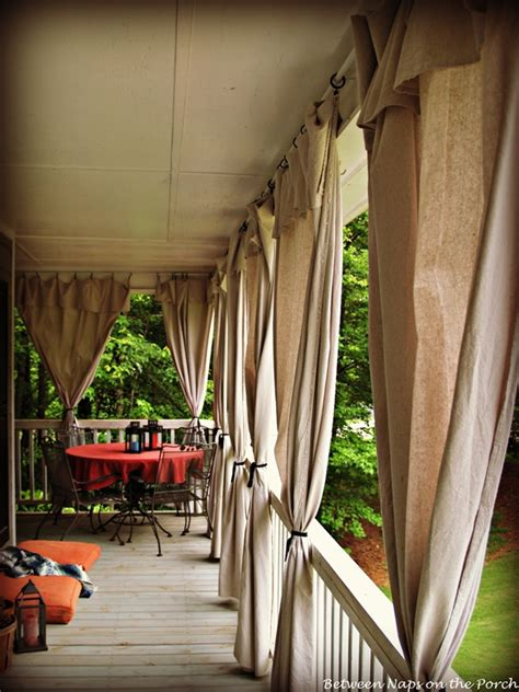 Curtains On Patio Drop Cloth Curtains For A Porch Add Privacy And Sun