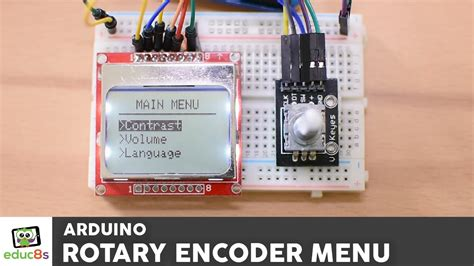 arduino tutorial menu arduino menu tutorial with a rotary encoder and a noki