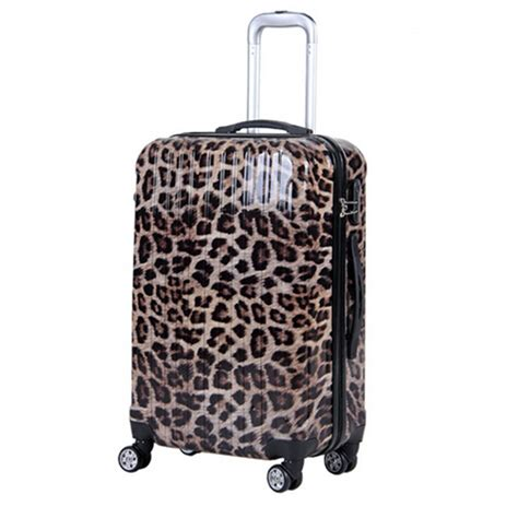 popular leopard print luggage buy cheap leopard print