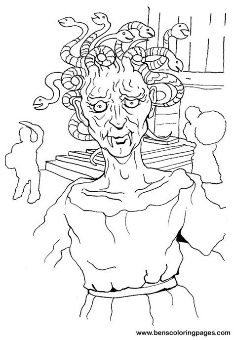 free coloring pages of medusa