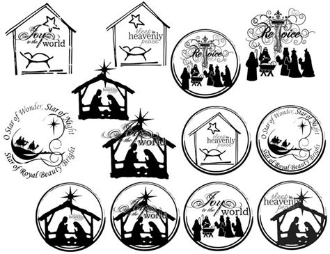 printable christian ornaments 25 best images about nativity ornaments on pinterest