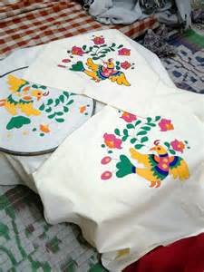 Painted Cushion Cover Designs Fabric Painting On Pillow Cover Fabric Paintings
