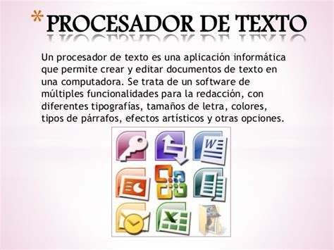 procesador de texto prcesador de textos procesador de textos procesador de