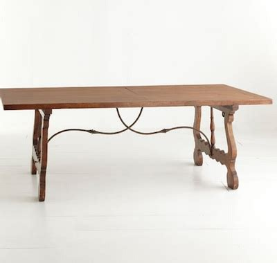 Handmade Trestle Tables - wisteria handmade trestle table look 4 less