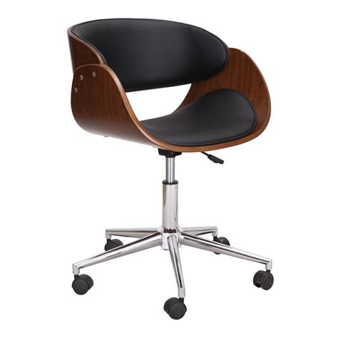 Bentwood Desk Chair by Adeco Adjustable Bentwood Office Chair Ch0362