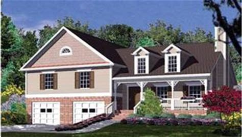 Bi Level Floor Plans With Attached Garage bi level house plans split entry amp raised home designs by thd
