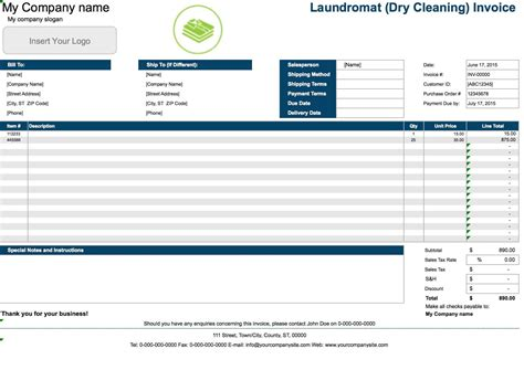 Cleaning Invoice Invoice Design Inspiration Cleaning Invoice Template Excel