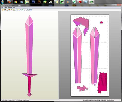 Papercraft Swords - adventure time fionna s sword papercraft by aiko